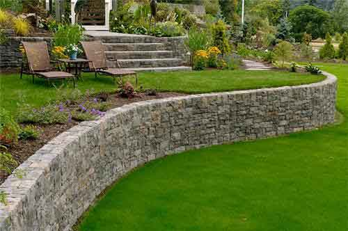 Picture of a retaining wall